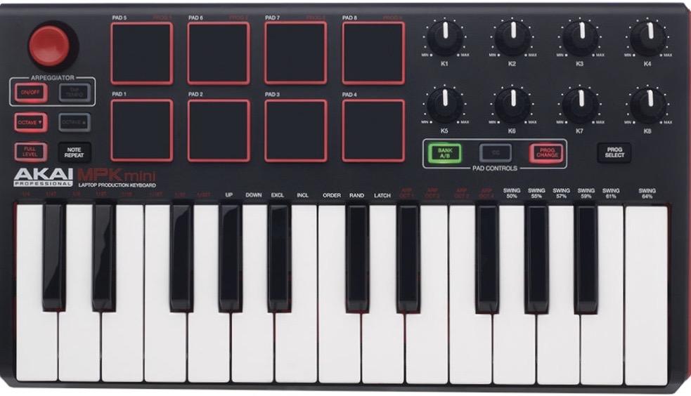 akai midi keyboard, akai midi controller, akai mini midi keyboard