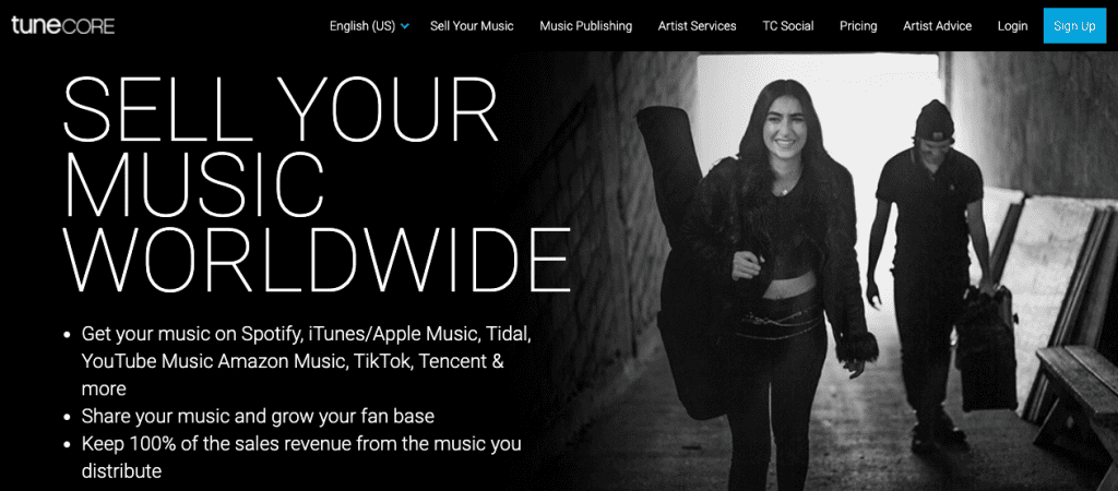 tunecore, upload music to spotify turncore, how to distribute music on spotify